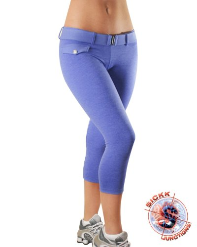 Images for Brazilian Fitness Wear Workout Clothing: Achromatic Indigo Little Fake Pocket Capri