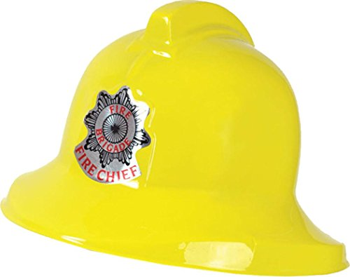 Fancy Party Dress Emergency Services Fire Brigade Plastic Fireman Helmet Yellow