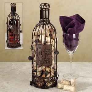 Great bar decor metal wine bottle cork cage for Bar decor amazon