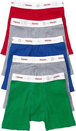 Hanes Tb75P5 Toddler Boys' Printed Boxer Briefs With Comfort Flex Waistband 5-Pa front-1070551