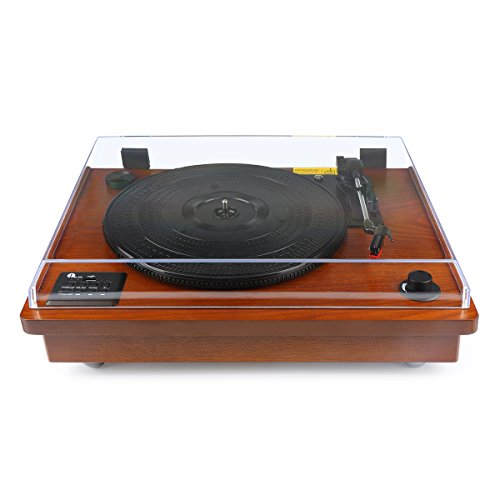 1byone belt driven bluetooth turntable with built in. Black Bedroom Furniture Sets. Home Design Ideas