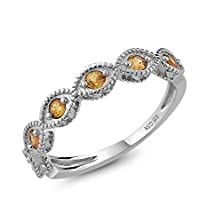 buy Beautiful Yellow Sapphire 925 Sterling Silver Ring