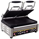 Buffalo Double Contact Grill Ribbed Top Flat Base Plates / Panini Grill