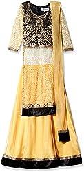 Atayant Girl Lehenga Choli (ATAYK_032_5:6YR_Black:Gold_XL)