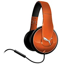Puma Vortice Over-Ear Headphones with In-Line Mic (Orange)