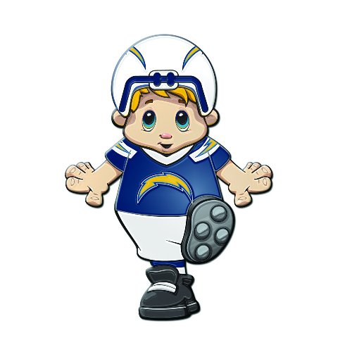 Amazon.com : San Diego Chargers Mascot Cling : Automotive Decals