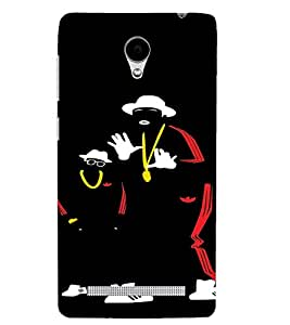PrintVisa Hip Hoppers Neon Silhouette 3D Hard Polycarbonate Designer Back Case Cover for Vivo Y28