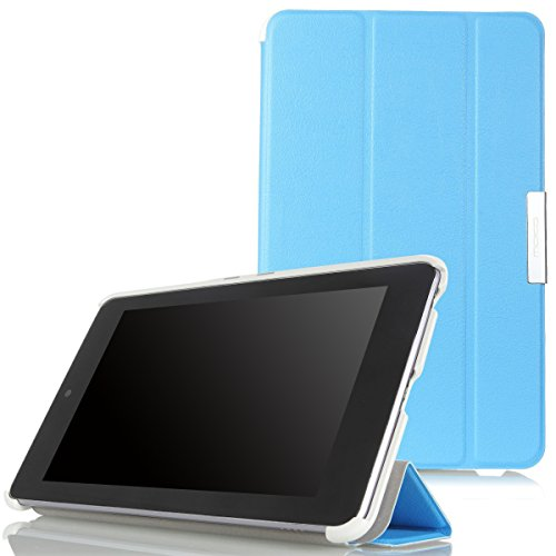 MoKo Google Nexus 7 Case - Ultra Slim Lightweight Smart-shell Stand Cover Case for Google Nexus 7 inch Tablet by ASUS, BLUE (with Smart Cover Auto Wake/Sleep) (Nexus 7 Case Blue compare prices)