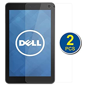 BIRUGEAR 2-Pack Premium HD Crystal Clear LCD Screen Protector for Dell Venue 8 - 8'' Android Tablet