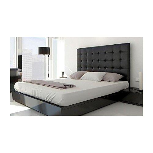 Tete De Lit Capitonnée Noir : t te de lit capitonn e 160 cm simil cuir noir notre si cle ~ Farleysfitness.com Idées de Décoration