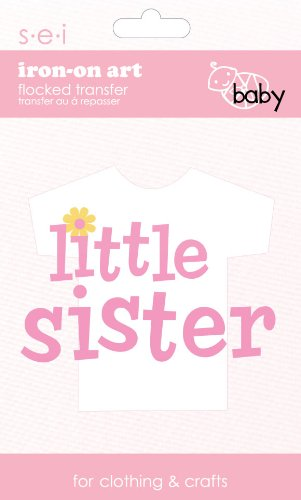 SEI 3.35-Inch by 5-Inch Little Sister Iron on Transfer, 1 Sheet (Iron Sister compare prices)