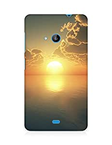 Amez designer printed 3d premium high quality back case cover for Microsoft Lumia 535 (Sunset)