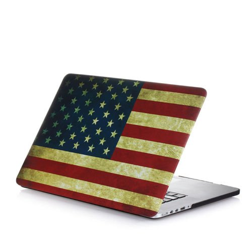 "Mosiso - Retina 13-Inch Vintage Us Flag Rubberized Hard Case Cover For Apple Macbook Pro 13.3"" With Retina Display A1502 / A1425 (Newest Version, No Cd-Rom Drive) (Us Flag)"