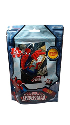Marvel Spiderman Puzzle, 24 Piece in Resealable Bag for Easy Storage - 1