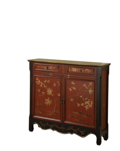 Cheap Red Wooden Oriental Occasional Console Table (B00592HD04)