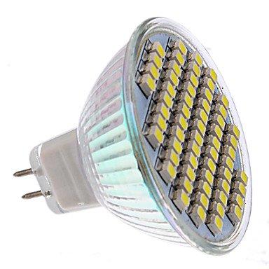 Mr16 3W 60X3528Smd 150-180Lm 6000-6500K Natural White Light Led Lamp Bulb (Dc 12V)