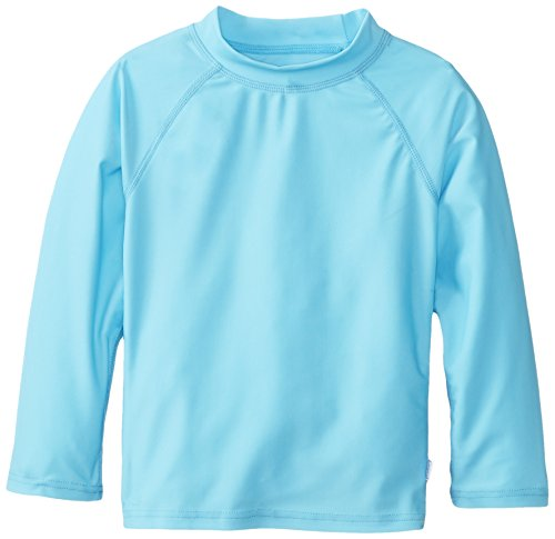 I Play. Unisex-Baby Infant Long Sleeve Rashguard, Aqua, 2-3 Years front-998243