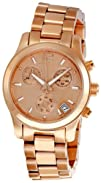 Michael Kors Womens MK5430 Runway Rose Gold Tone Watch