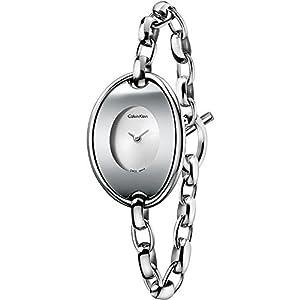 Calvin Klein K3H2M126 - Orologio da polso, acciaio inox, colore: argento