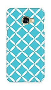 Amez designer printed 3d premium high quality back case cover for Samsung Galaxy C5 (blue white pattern)