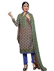 PARISHA Pashmina Olive & Blue Women's Chudidar Suit RHN7004