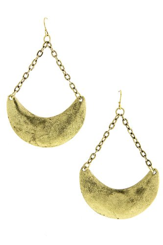 Diva & Duchess Crescent Swing Earring (Antique Gold) front-580015