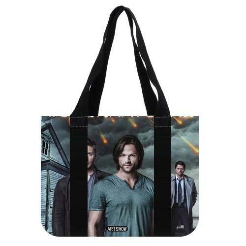 "ARTSWOW The walking dead Storage Grocery Custom Tote Bag-Borsa a tracolla da viaggio, 01, 2 lati, Tela, color-5, 12.2"" x 11"" x 3.3"""