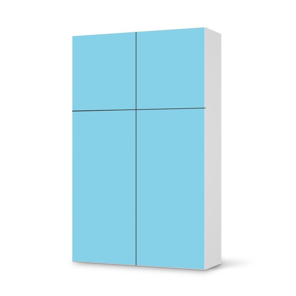 Folie IKEA Besta Schrank Hochkant 4 Türen (2+2) / Design Aufkleber Türkisblau 3 / Dekorationselement kaufen