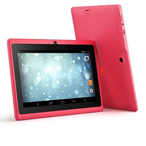 ProntoTec Axius Series Q9S 7 Inch Quad Core Android 4.4 KitKat Tablet PC, 1024 x 600 Pixels Cortex A8 Quad Core Processor, 8GB ROM, Dual Camera, G-Sensor, Google Play Pre-loaded -Pink