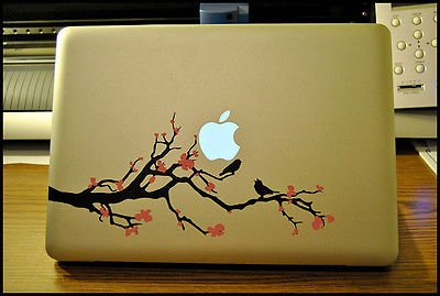 Laptop Decal: Cherry Blossom Tree-Apple Macbook Pro/Hp/Sony/Acer front-51243