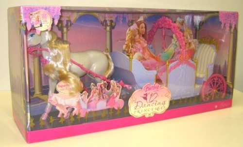 Barbie In The 12 Dancing Princesses Horse & Expandable Carriage