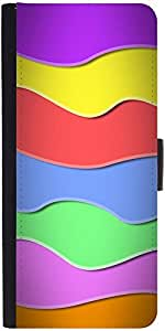 Snoogg Zoom Wave 2419 Graphic Snap On Hard Back Leather + Pc Flip Cover Samsu...