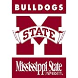 (28x40) NCAA Mississippi State Bulldogs 2-Sided House Banner Flag Wall Scroll