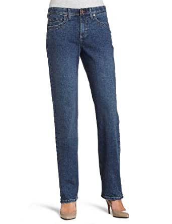Lee Women's Comfort Fit Milan Straight Leg Jean, Caspian Handsand, 10 Medium