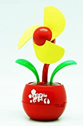 Mini Apple flower USB Desk Fan in Red