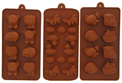 Le Juvo Chocolate Silicone Molds - Vehicles, Ducks, And Animals, 3 Piece