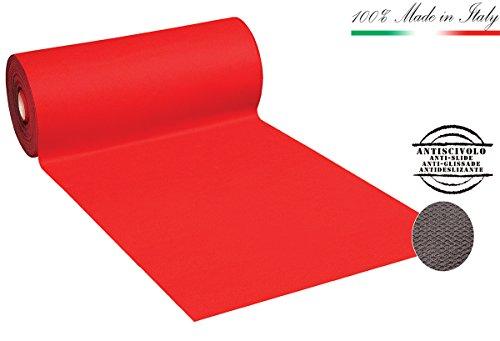 TAPPETO MOQUETTE PASSATOIA ROSSA retro antiscivolo larghezza 100cm vendita al metro lineare per acquistare inserisci il numero di metri desiderati nella quantità