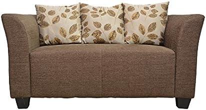 Hometown Two Seater Sofa (Matt Finish, Brown)