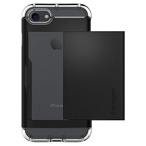 Spigen-Crystal-Wallet-iPhone-7-Case-with-Slim-Dual-Layer-Wallet-Design-and-Card-Slot-Holder-for-iPhone-7-Black