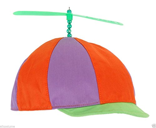 [Popcandy Beanie with Propeller Alice in Wonderland Tweedledee Tweedledum Hat 250470] (Halloween Costumes Tweedledum And Tweedledee)