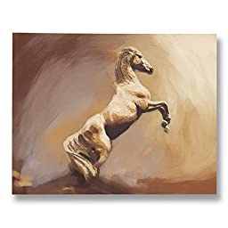 Neron Art - Hand painted Animal Oil Painting on Gallery Wrapped Canvas - Wild America 20X16 inch (51X41 cm)