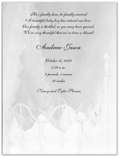 Cradle Birth Announcements - Set Of 20 front-1037688