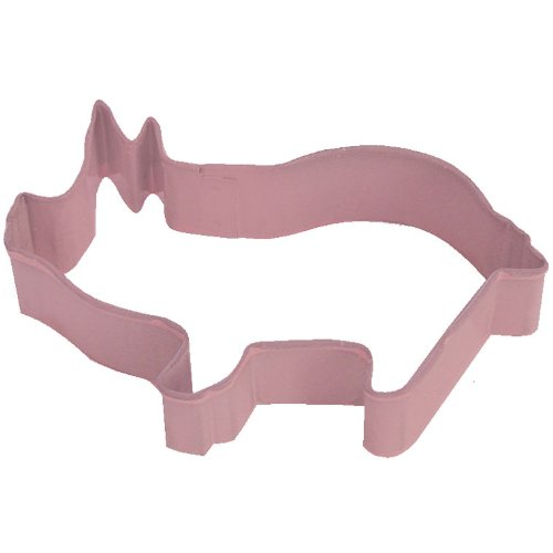 Cybrtrayd R&M Pig Cookie Cutter with Brightly Colored Durable Baked-On Polyresin Finish, 3.75-Inch