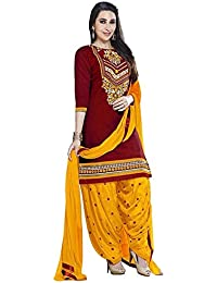 Shiroya Brothers Women's Cotton Printed Unstitched Regular Wear Salwar Suit Dress Material - B06Y2B864Y