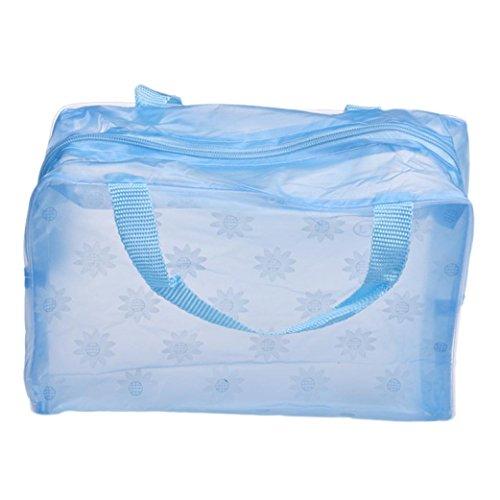 DDLBiz® Transparent Trousse / Sac / Étui à Accessoires de Toilette Beauté & Cosmétiques en PVC - Bleu - Imperméable