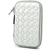 Hard Drive Disk Protective Zipper Carrying Shell Case Cover Bag For 2.5 Inch Portable External Hard Drive Sliver... - B01GJNNTT0