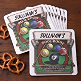 Personalized Pub Coaster Set - Pool Room