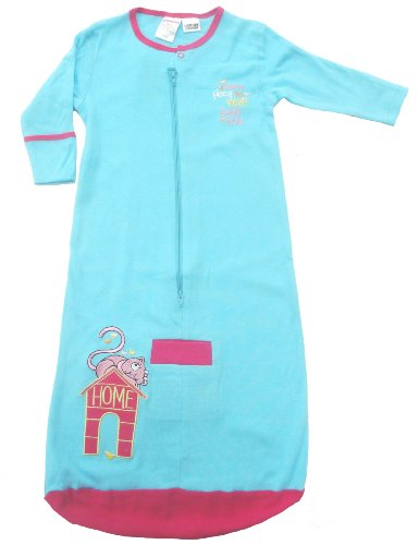Bright Bots Baby Sleeping Bag in Soft Cotton Jersey - Pretty Turquoise size 3-6 months