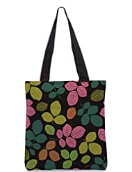 Snoogg Seamless Pattern With Leaf Designer Poly Canvas Tote Bag - B012FYZLOS