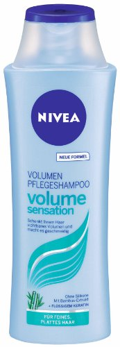 (0,55 Euro / 100 ml) 3 x Nivea Volume Pflegeshampoo
